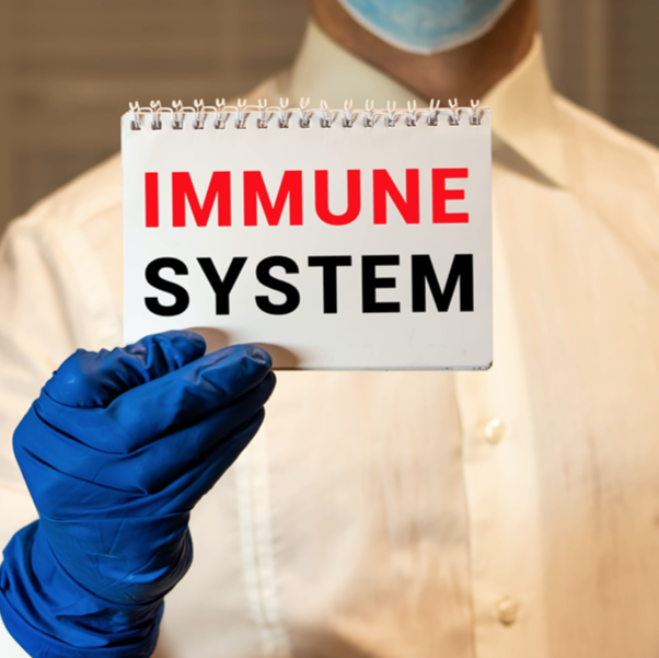 card with immune system text