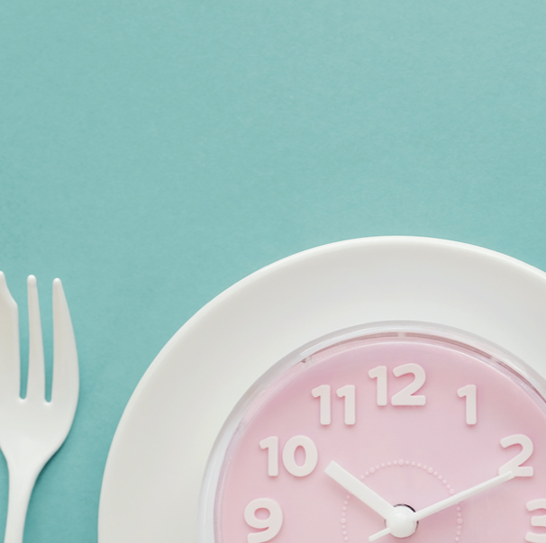 clock with fork