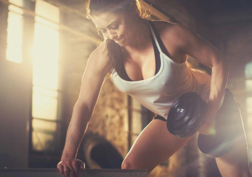athletic women exercising